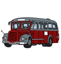 old red and gray bus vector image vector image