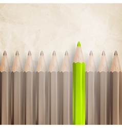 Pencils with tips facing eps 10 vector