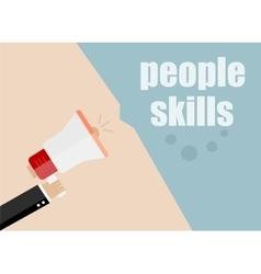 Peolpe skills flat design business vector
