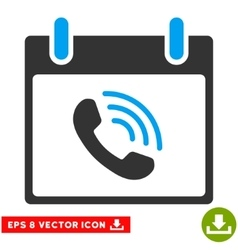 Phone call calendar day eps icon vector