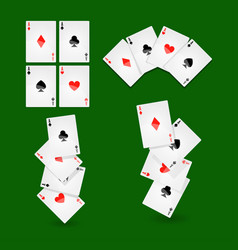 Poker playing cards for casino or solitaire game vector