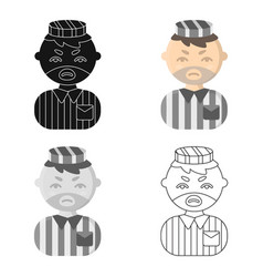 prisoner cartoon icon for web and vector image vector image