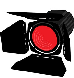 Red spotlight vector image