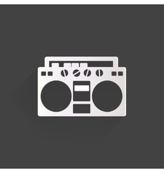 Retro tape recorder hipster style vector