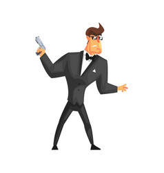 Secret service male agent undercover in fancy suit vector