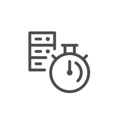 Server time line icon vector