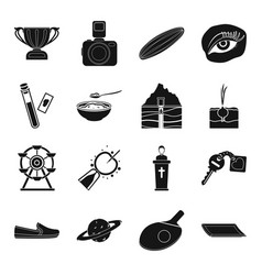 Sports gynecology park farm and other web icon vector