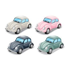 Toy beetle car vector