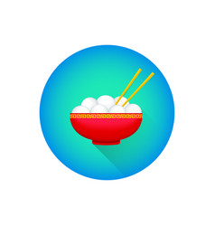 Traditional chinese tangyuan rice dessert vector