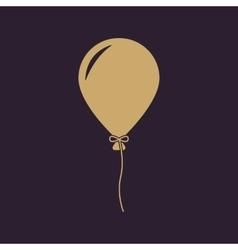 The balloon icon Holiday symbol Flat vector image