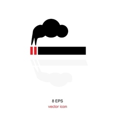 Simple smoking icon vector image
