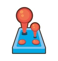 cartoon joystick controller retro game vector image