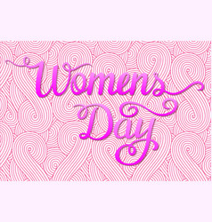 International womens day lettering design vector