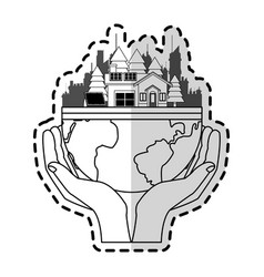 Solar panel icon image vector
