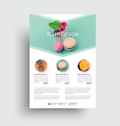 Design flyer with a place for a photo in the form vector