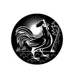 NX rooster sideup vector image