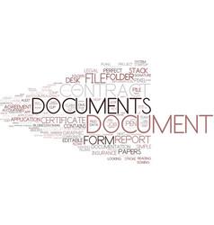 Document word cloud concept vector