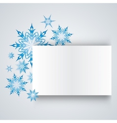 Snowflake on a paper background vector
