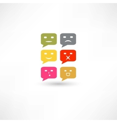 Bubble speech emotions color vector