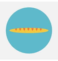 French baguette bread icon vector