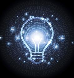 abstract digital lamp vector image