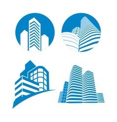 Skyscrapers sign vector