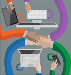 Teamwork small vector image