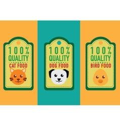 Set of healthy pet food labels and stickers vector