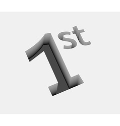 1st number design vector