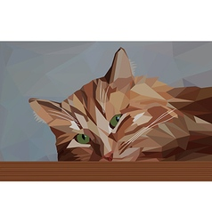 Pensive red cat vector