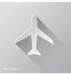 Airplane flat icon design vector
