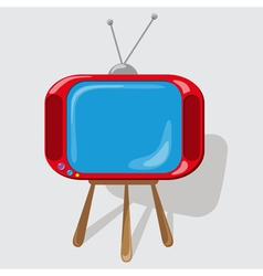 Icon the red tv vector