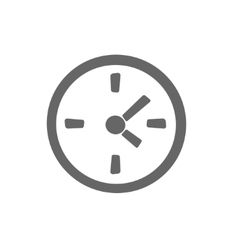 simple clock icon Stock Time vector image