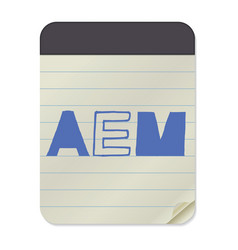 aem lettering notebook template vector image