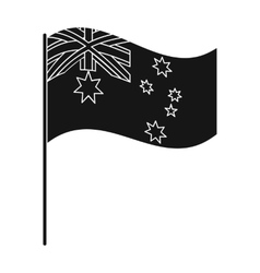Australian flag icon in black style isolated on vector