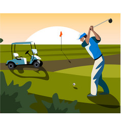 banners image of sports equipment for golf vector image vector image