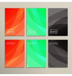 Bright abstract pictures on a white background vector image