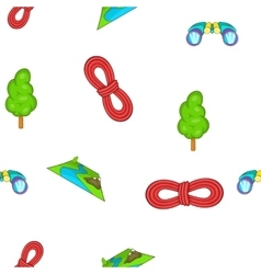 Camp pattern cartoon style vector
