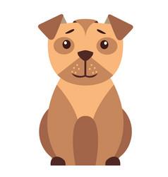 cute small dog cartoon flat icon vector image