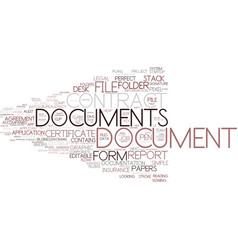 Document word cloud concept vector