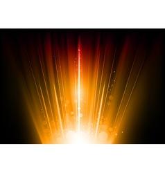 flare orange vector image vector image