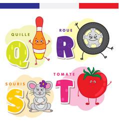 french alphabet skittles wheel mouse tomato vector image