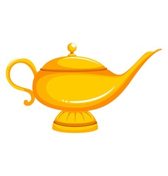 Golden lamp with lid on vector image vector image