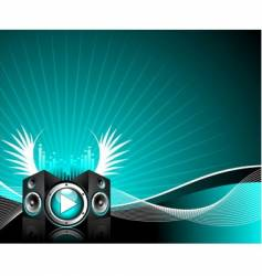 illustration for musical theme vector image vector image