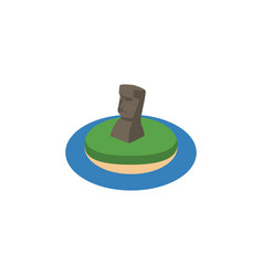 Isolated moai isometric chile element ca vector