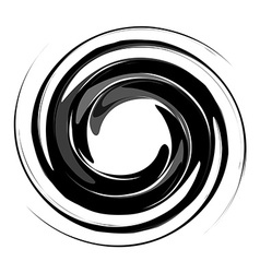Isolated vortex black vector image vector image