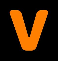 Letter v sign design template element orange icon vector
