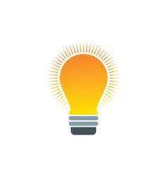 Lightbulb logo vector