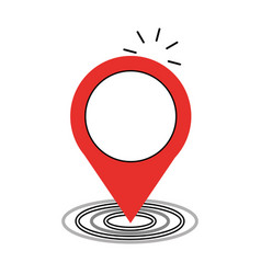 Location pointer isolated icon vector