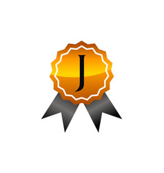 Logo quality letter j vector